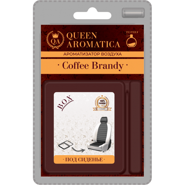 Ароматизатор Queen Aromatica под сиденье Coffee Brandy QA-CX-01
