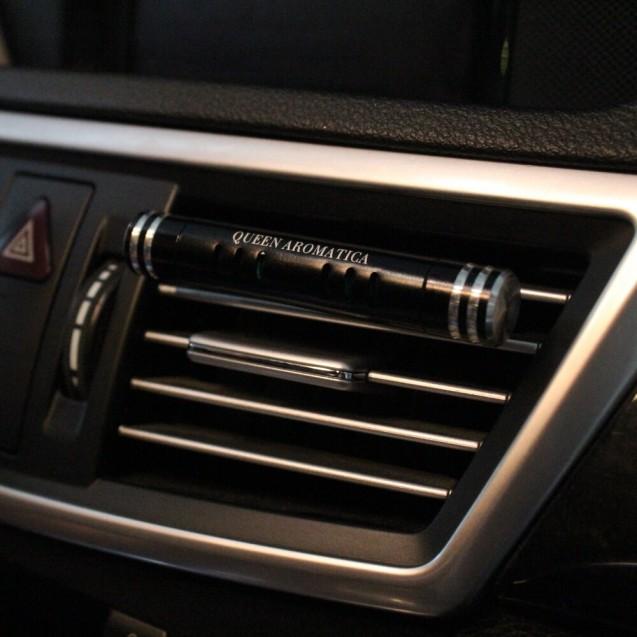 Многоразовый ароматизатор Queen Aromatica Deflector + сменный арома-стик Sauvage D-01 (черный)