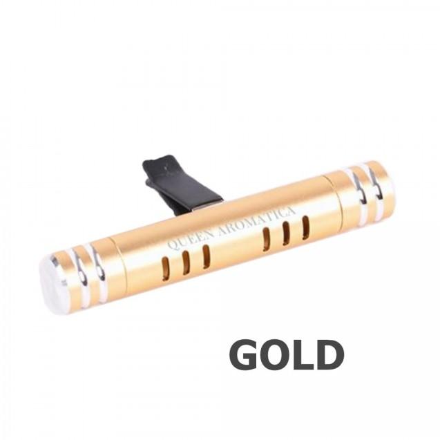 Многоразовый ароматизатор Queen Aromatica Deflector + сменный арома-стик Sauvage D-04 (золото)
